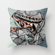 Mending world Throw Pillow