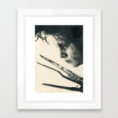 Edward Scissorhands ~ Johnny Depp Traditional Portrait Print Framed Art Print