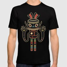 Tribe Gathering SMALL Black Mens Fitted Tee