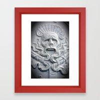 A Grave Grave Framed Art Print