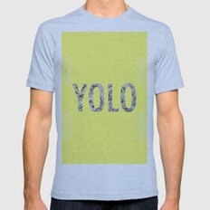 yolo Mens Fitted Tee Athletic Blue SMALL