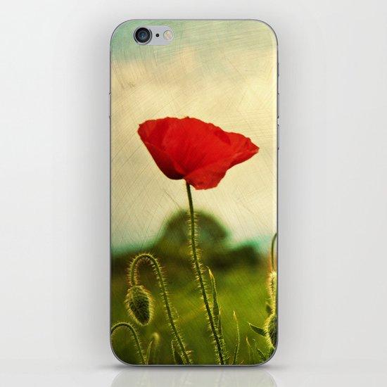 Red Poppy iPhone & iPod Skin