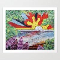 hawaii Art Prints featuring Hawaii by Laura Hol Art