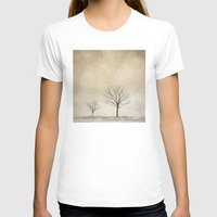 snow T-shirts featuring Snow Bokeh Wonderland  by Laura Ruth