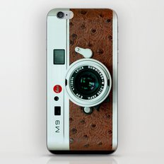 Classic retro White with Brown Leather vintage camera iPhone 4 4s 5 5c, ipod, ipad case iPhone & iPod Skin