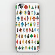 iPhone & iPod Skin featuring Pixel Heroes by Pahito