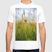 Summer Meadow Breeze Mens Fitted Tee White SMALL