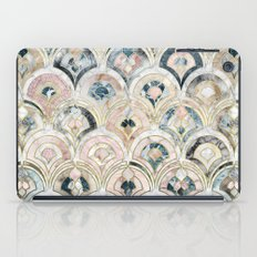 Art Deco Marble Tiles in Soft Pastels  iPad Case