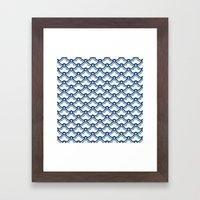 matsukata in monaco blue Framed Art Print