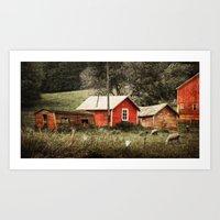 Generations of Red Art Print