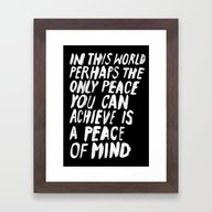PERHAPS Framed Art Print