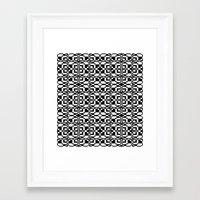 Black And White Tile 6/9… Framed Art Print