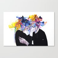 Canvas Print featuring Intimacy On Display by Agnes-cecile