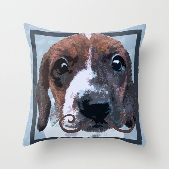 Dachstachioed Throw Pillow