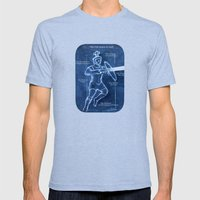 Full Armor of God - Warrior 3 Mens Fitted Tee Tri-Blue SMALL