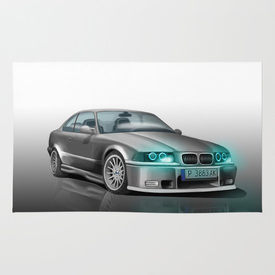 Classic BMW Area & Throw Rug