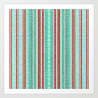 Beachhouse Stripe Art Print