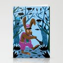 The Clarinet Bunny Stationery Cards