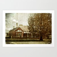Boorowa Cottage Art Print