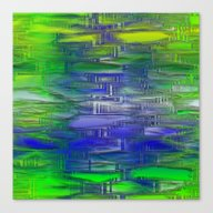 Flashy Surface Green Blu… Canvas Print