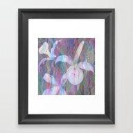 Orchid Ripples Framed Art Print