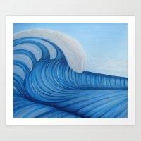 Surf a Big Wave Art Print