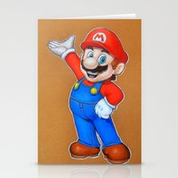 mario Stationery Cards featuring mario by eyal mor