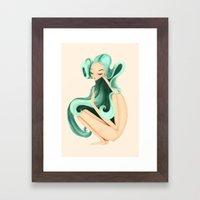 Weird Girl Framed Art Print