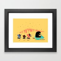 Grand Theft Arctic Framed Art Print