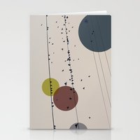 Chaos On The Wires Stationery Cards