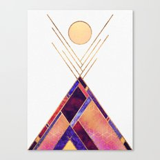 Tipi Mountain Canvas Print