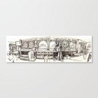de vere's irish pub, davis Canvas Print