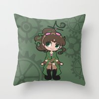 Steampunk Sailor Jupiter Throw Pillow