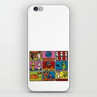 Haring - étoiles W. iPhone & iPod Skin