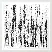 Birch Winter Art Print