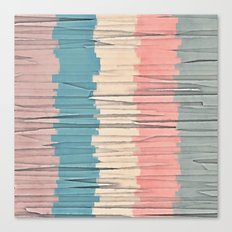 Colorful Grunge Stripes Canvas Print