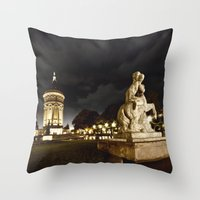 Mannheim Wasserturm Throw Pillow