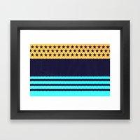 My US Flag & Jeans Framed Art Print