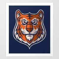 Tiger Shield Art Print