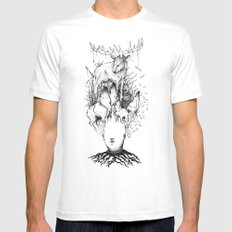 forest White SMALL Mens Fitted Tee