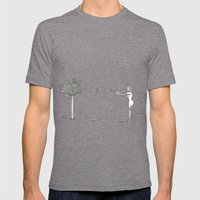 Light as a feather Mens Fitted Tee Tri-Grey SMALL