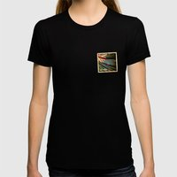 Grunge sticker of New Zealand flag Womens Fitted Tee Black SMALL