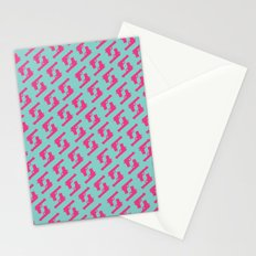 Mint and pink guns Stationery Cards