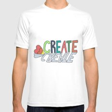 create Mens Fitted Tee White SMALL
