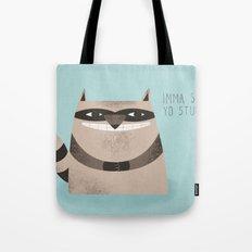 Sneaky Raccoon Tote Bag