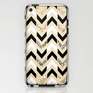 Black, White & Gold Glit… iPhone & iPod Skin
