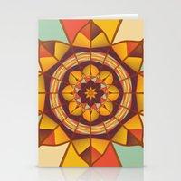 Multicolored geometric flourish Stationery Cards