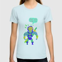 Masters of the universe of love 2 Womens Fitted Tee Light Blue SMALL