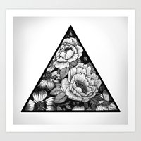 triangle Art Prints featuring Triangle by adroverart