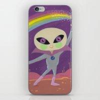 Rainbow Alien iPhone & iPod Skin